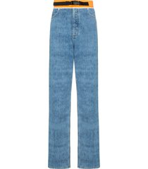 contrast waistband jeans