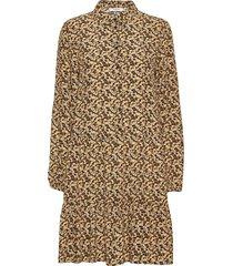wilda morocco ls short dress aop dresses shirt dresses beige moss copenhagen