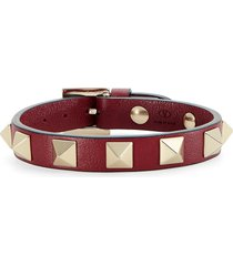 women's valentino rockstud leather bracelet