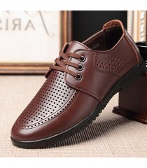 scarpe stringate in pelle per uomo