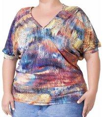 blusa confidencial extra plus size decote v feminino