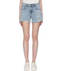 'dre' distressed boyfriend denim shorts