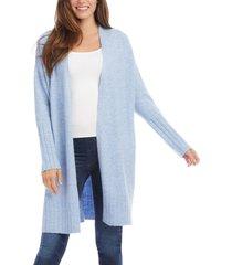 women's karen kane long cardigan, size medium - blue