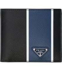 prada leather flap-over wallet