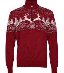 dale christmas masc sweater knitwear turtlenecks röd dale of norway