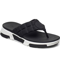 haylie quilted cube toe-thongs shoes summer shoes flip flops svart fitflop