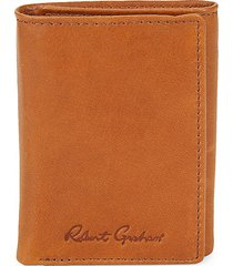 robert graham men's joan rfid leather tri-fold wallet - cognac