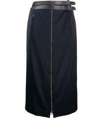 christian dior 2000 zipped skirt - blue