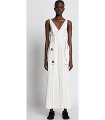 proenza schouler silk viscose belted dress ecru/white 0