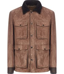 ajmone suede and shearling jacket