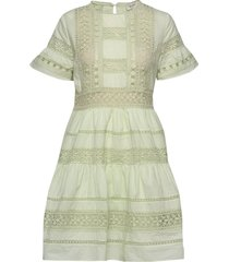 felice dress korte jurk groen by malina