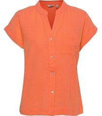 byhenri ss shirt - blouses short-sleeved orange b.young