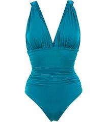 brigitte ruched swimsuit - blue