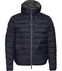 armani exchange down jacket gevoerd jack blauw armani exchange
