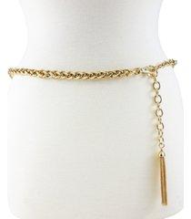 fashion focus tubular twist chain belt with tassel ornament