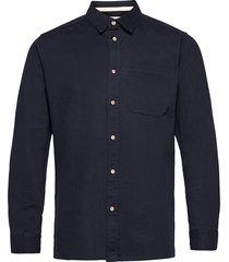 aklenny twill skjorta casual blå anerkjendt