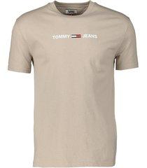 tommy jeans t-shirt - slim fit - beige