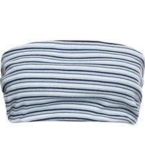 top a fascia in tessuto a costine (blu) - rainbow