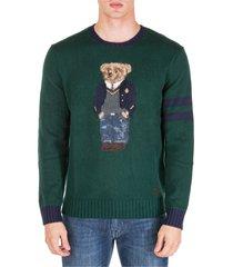 maglione maglia uomo girocollo bear
