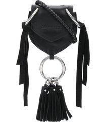 dsquared2 tassel detail crossbody bag - black