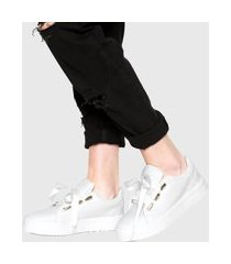 tênis dafiti shoes cetim branco