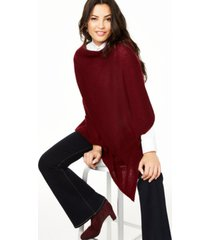 charter club asymmetrical cashmere poncho, created for macy's