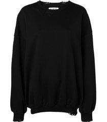 almaz oversized distressed sweatshirt - black