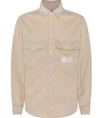 tommy hilfiger men's lewis hamilton chunky corduroy shirt