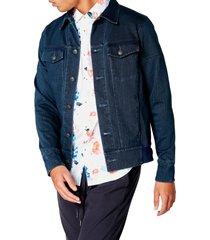 men's good man brand slim fit twill denim jacket, size small - blue