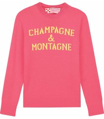 champagne & montagne pink fluo womans sweater