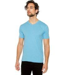 camiseta básica hombre azul celeste s5120
