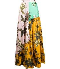 dorothee schumacher full-length panelled skirt - pink