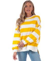 womens chili stripe crew sweatshirt