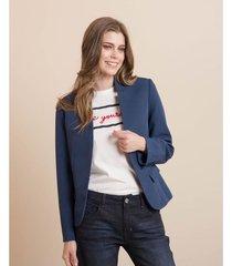 blazer clásico con solapas invertidas