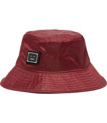 face plaque nylon bucket hat