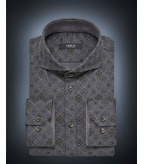 desoto luxury line heren overhemd plants cutaway jersey slim fit groen