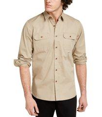 sun + stone men's adrian workwear shirt, created for macy's