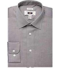 joseph abboud mocha herringbone dress shirt
