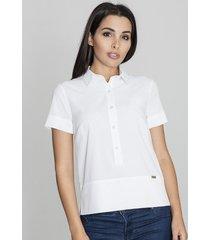 bluzka koszulowa na guziki biała