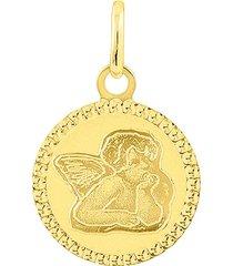 ciondolo angioletto in oro giallo per unisex