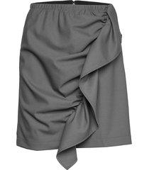 front drape mini skirt knälång kjol grå designers, remix