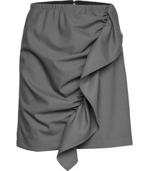 front drape mini skirt kort kjol grå designers, remix
