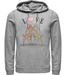 fifth sun men's bambi love long sleeve hoodie