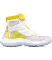 camper lab crclr, sneaker donna, bianco/giallo/beige, misura 41 (eu), k400380-001