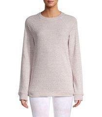 marc new york performance women's beach fleece sweatshirt - antique denim - size s