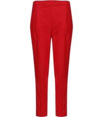 pantalón unicolor básico color rojo, talla 6