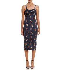 colcci peek-a-boo print short dress