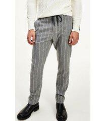 tommy hilfiger men's flex drawstring trouser ash melange/ecru - 36