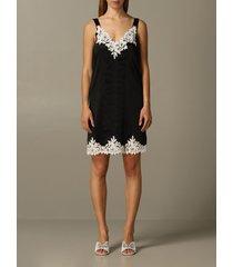 blumarine dress blumarine silk dress with lace inserts