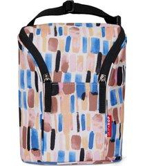 bolsa térmica para mamadeira double bottle bag (grab & go) - brush stroke skip hop